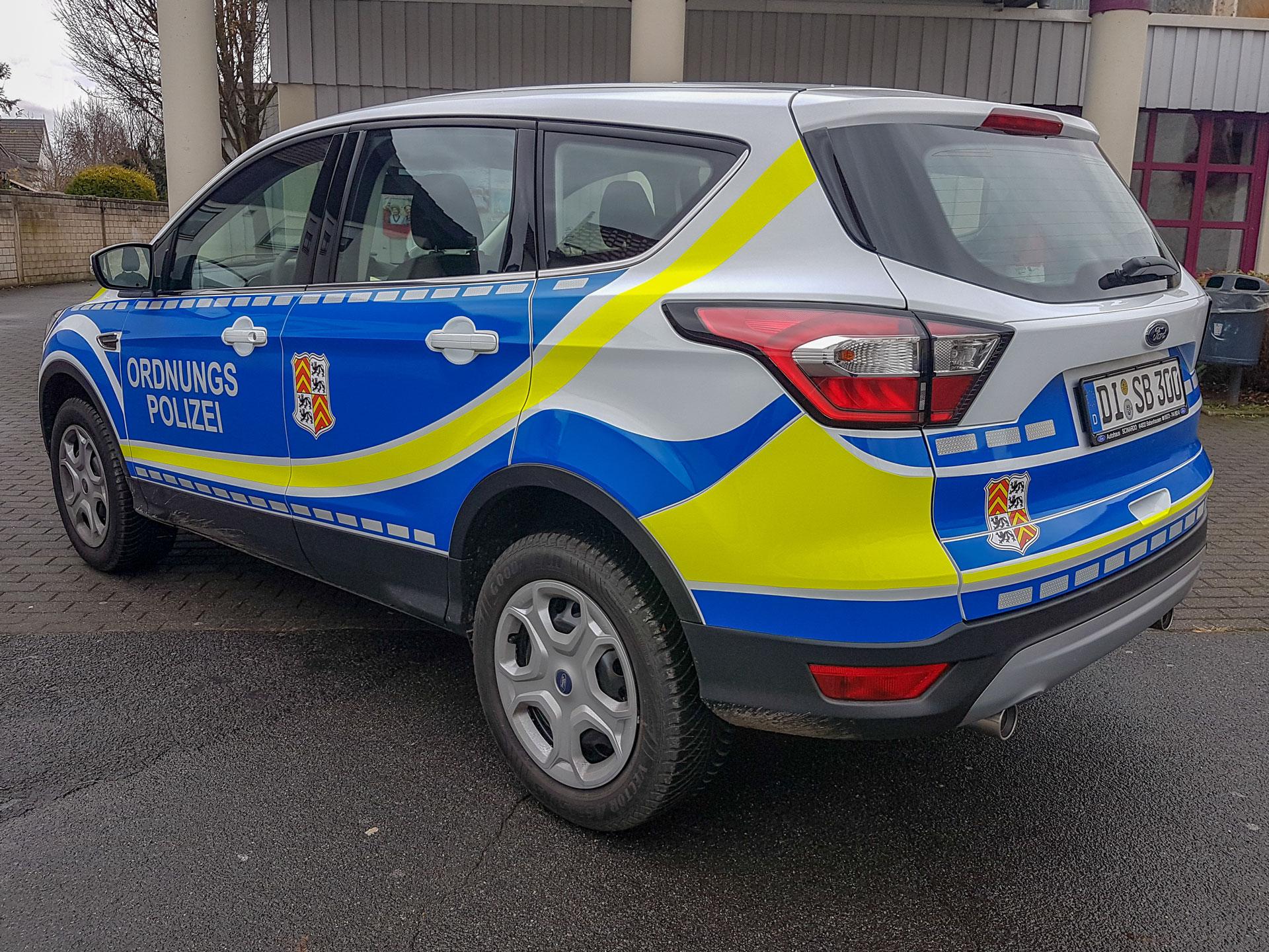 Fahrzeugbeschriftung Ordnungspolizei
