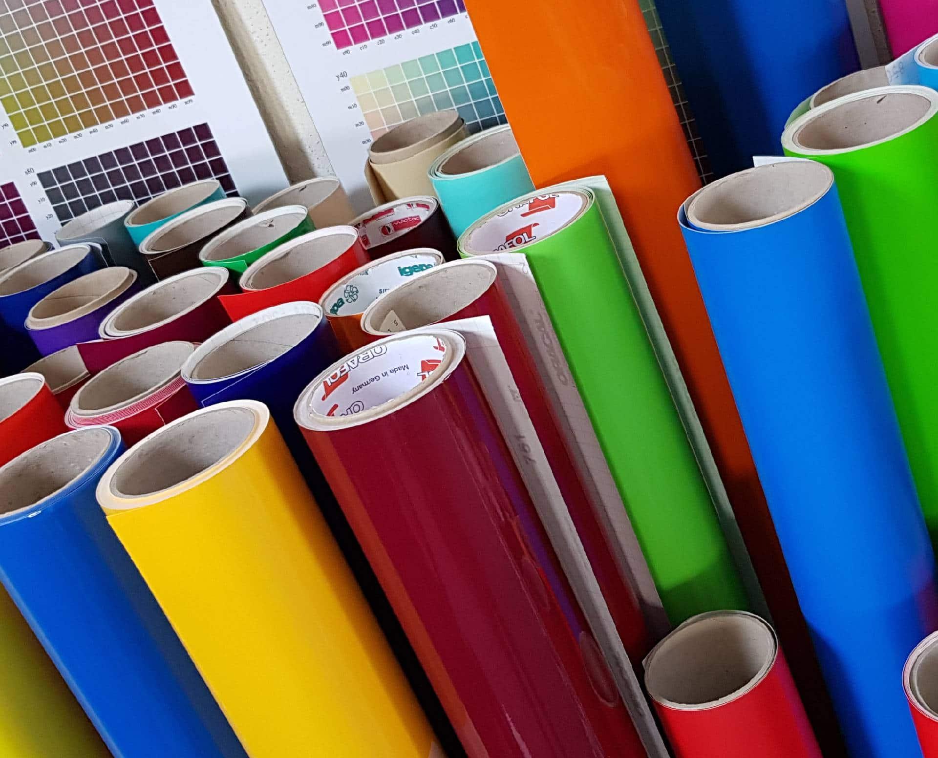 Folienschnitte Werbetechnik Etiketten
